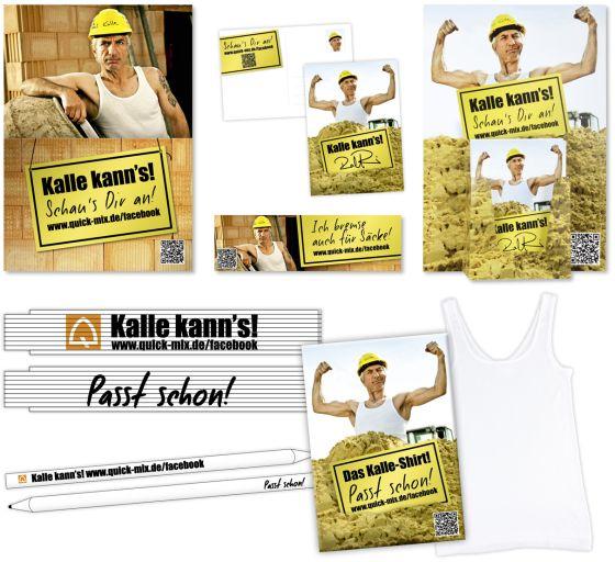 Werbemittel Kollage 01 - quick-mix: Kultkampagne für den Baustoffhandel
