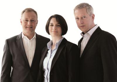 V.l.: Frithjof Struye, Geschäftsführer Gemaco GmbH; Stefanie Stratmann, Leitung Vertriebsbüro Hamburg; Mark-Oliver Schrader, Leiter Vertriebsbüro Münster.