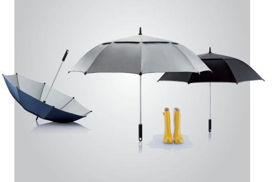 Eines der mit dem Red Dot Design Award ausgezeichneten Produkte ist Regenschirm Hurricane.