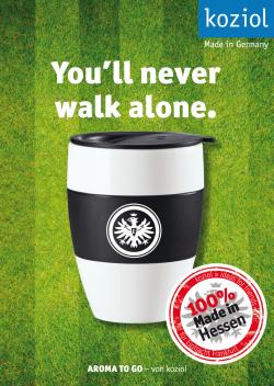 Koziol 105x148 INC Postkarte Eintracht FRA Neverwalkalone Kopie - Einträchtiges Heimspiel