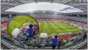 PAOL Stadion panorama - 360° - Mittendrin im Geschehen